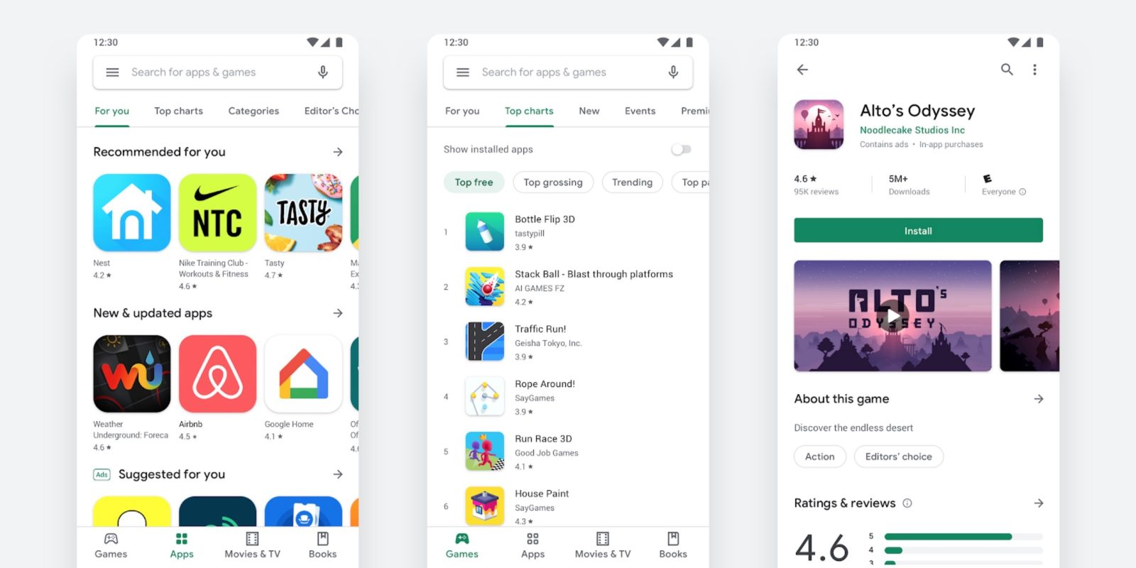 Google officially announces and details Play Store Material Theme redesign