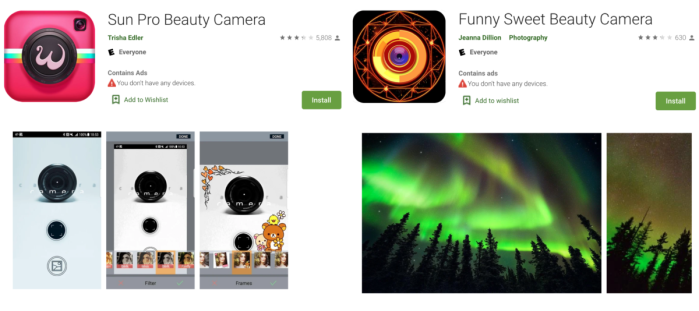 Camera adware play store