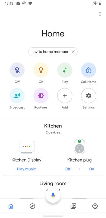 Google Home app Call Home feature
