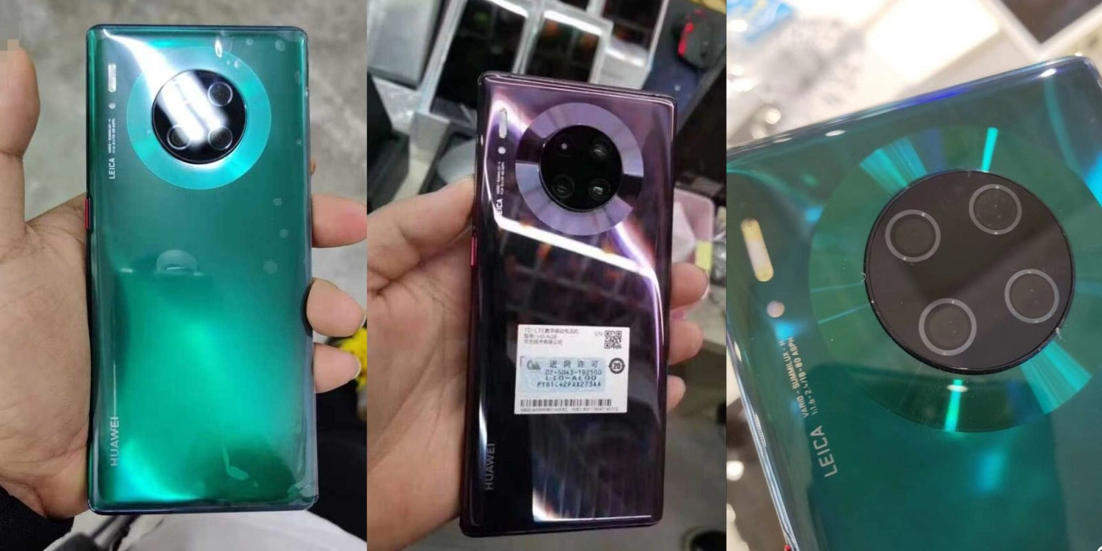 [Update: Video unboxing] Hands-on images of Huawei Mate 30 Pro, Watch GT 2 leak showing new designs