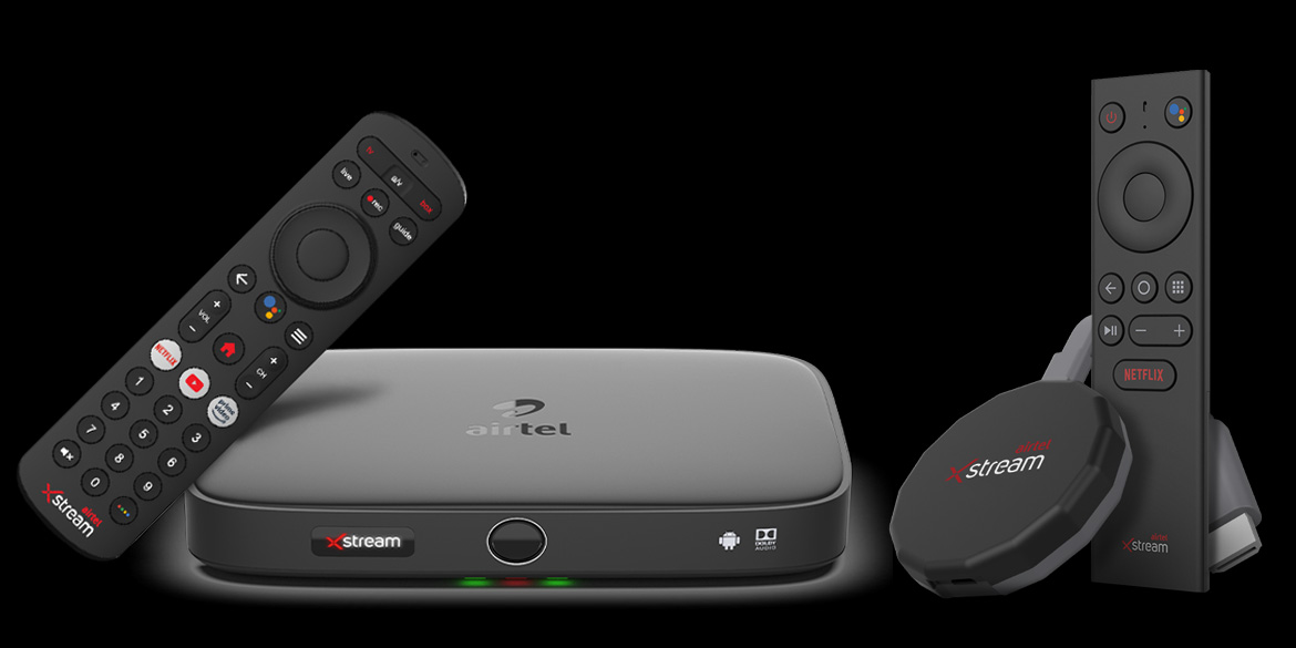 Airtel Xstream box and stick launch in India w/ Android TV