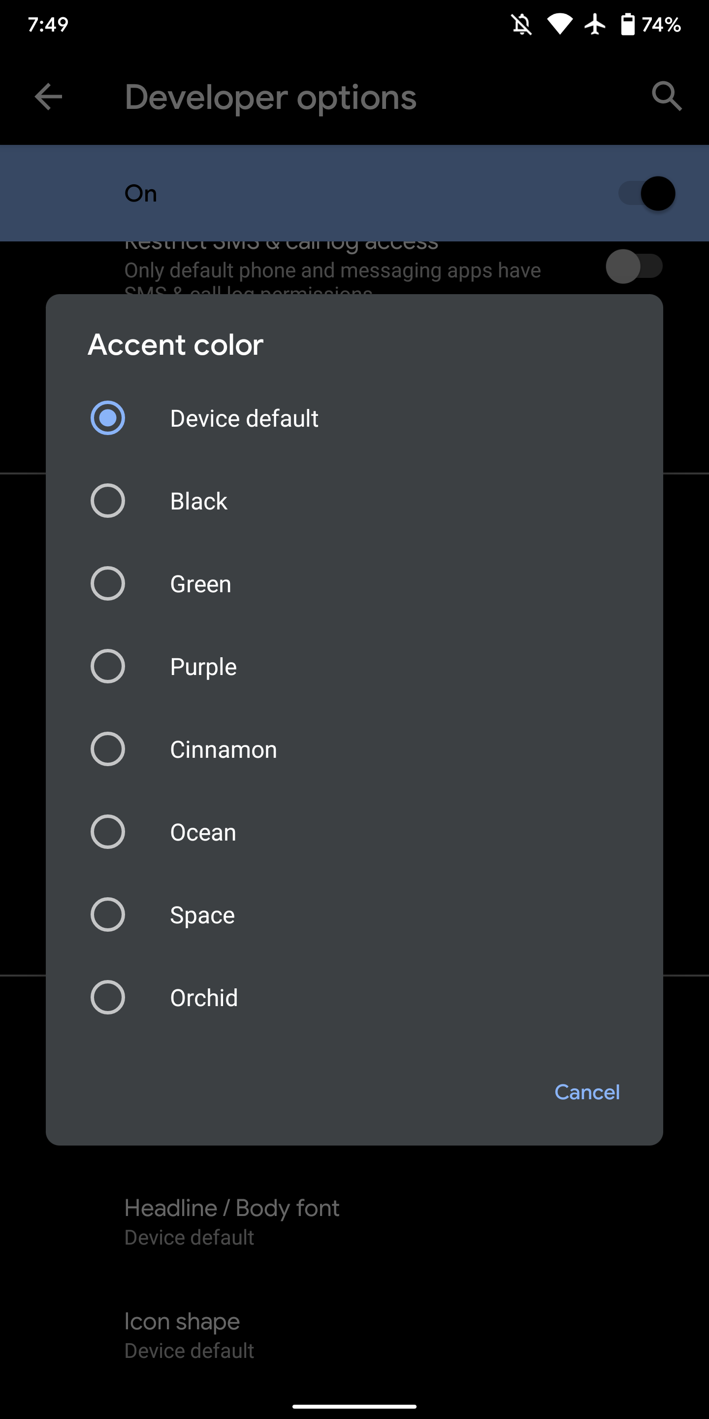Android 10 Settings hints at style, clock Pixel