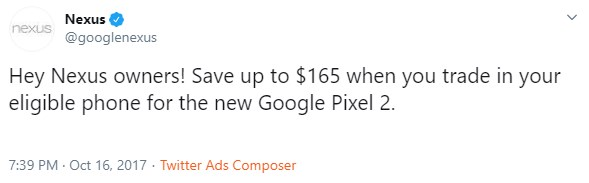 nexus twitter account pixel discount