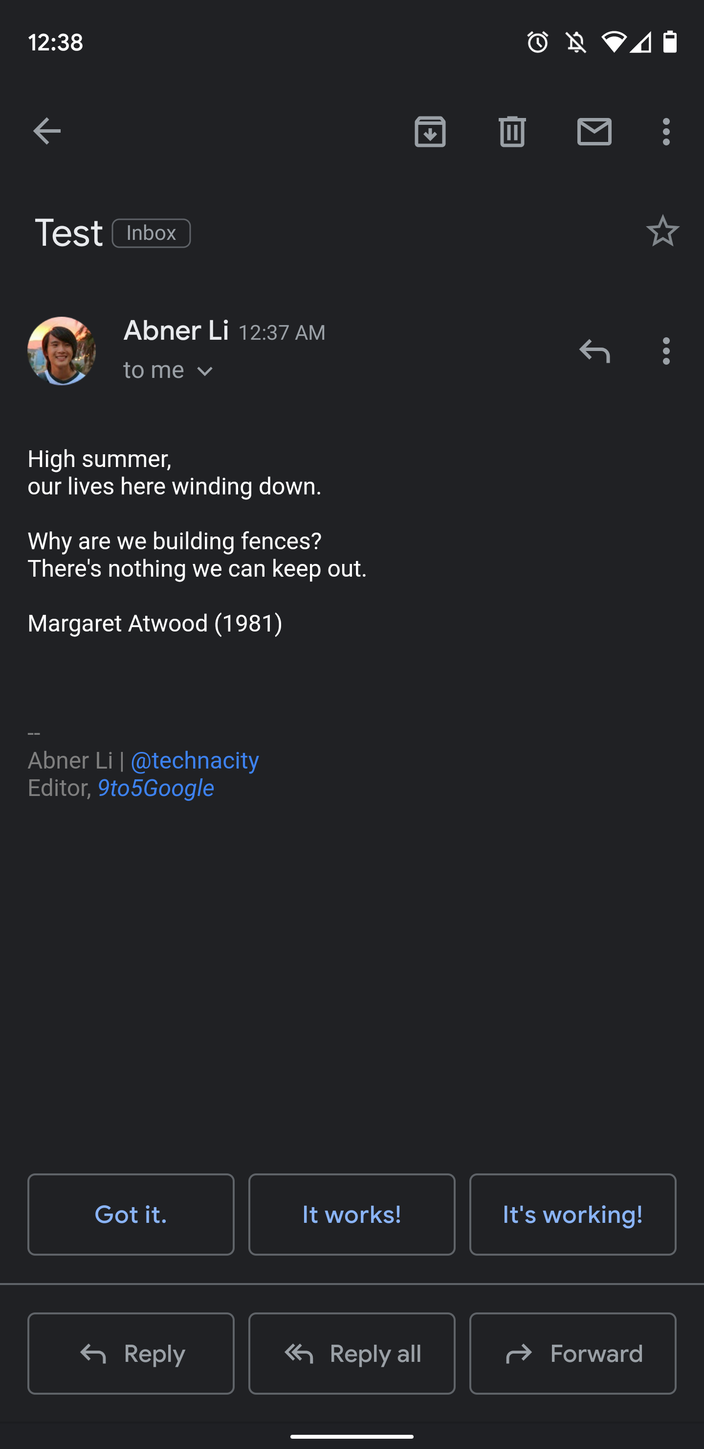 Gmail for Android dark theme begins rolling out [Gallery
