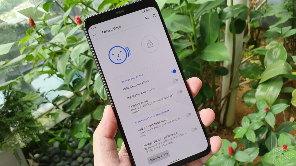 pixel 4 face unlock eyes open