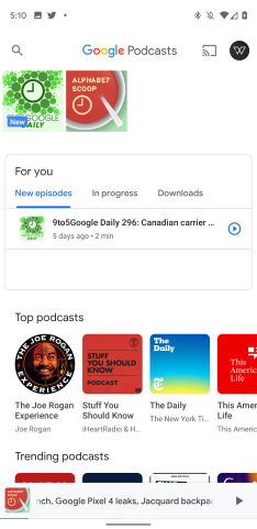 Google Podcasts preps Material Theme redesign [Gallery