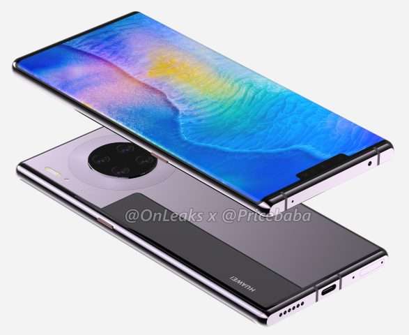 Huawei's Mate 30 Pro lacks volume buttons in latest renders