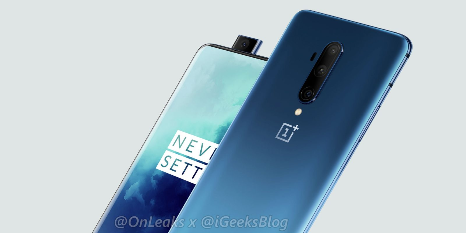 OnePlus 7T Pro official render leaks showing off the familiar design