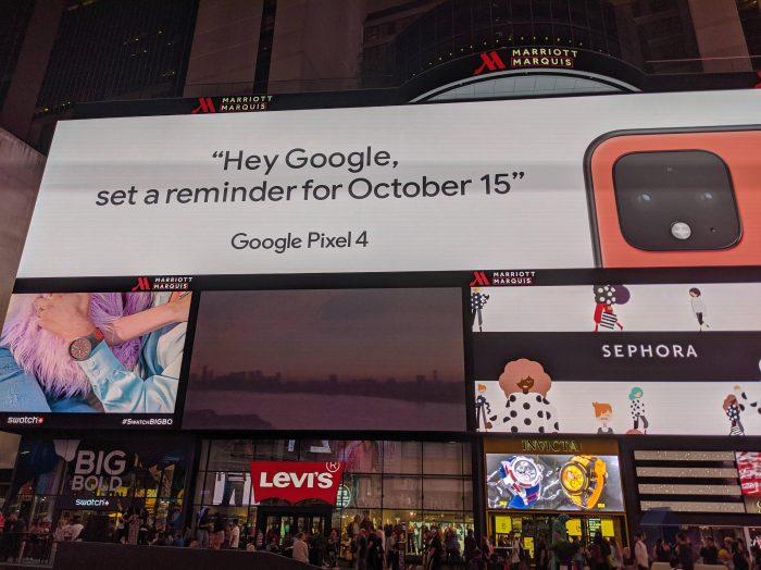 Pixel 4 Times Square