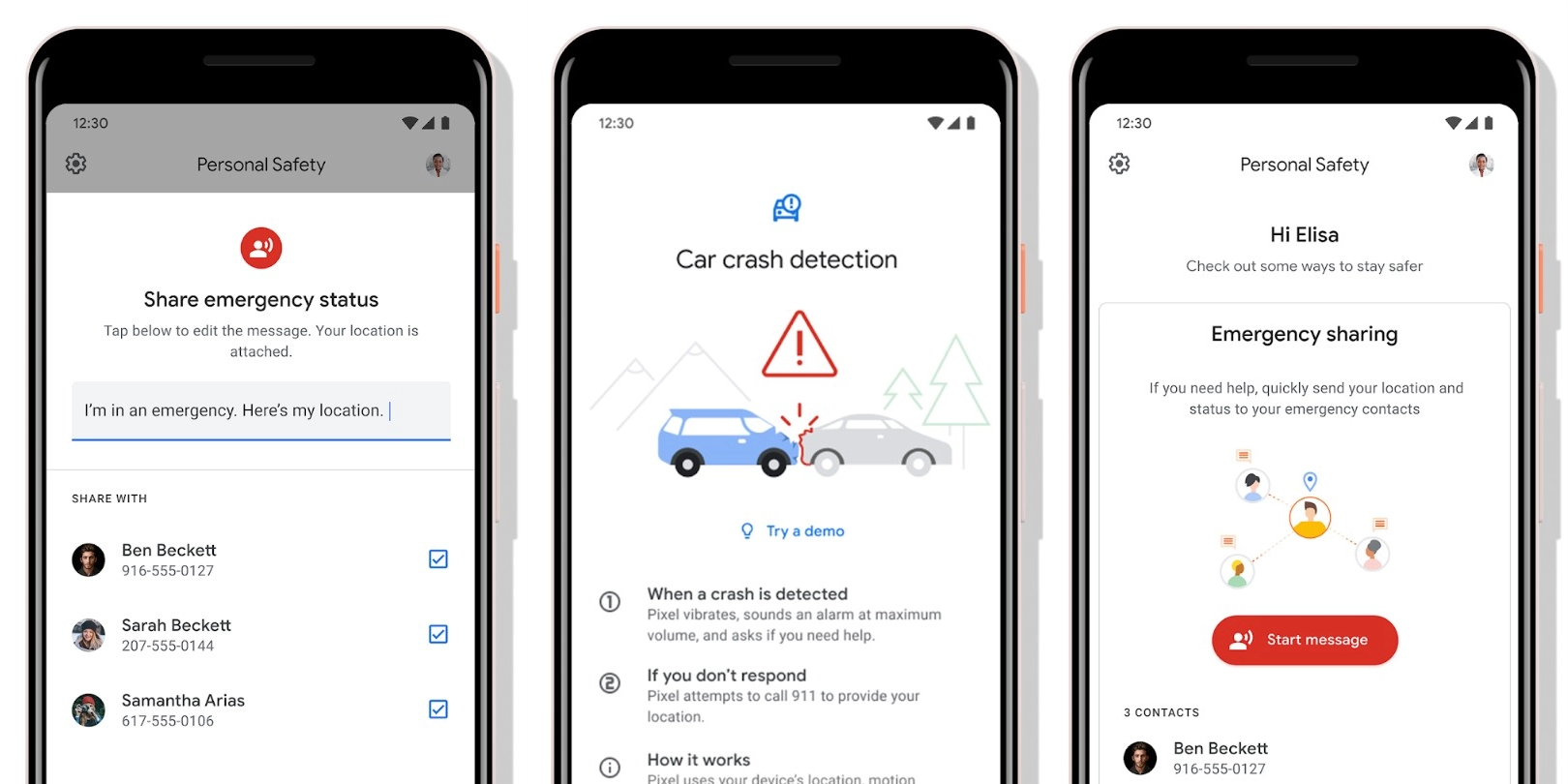 Google Pixel Personal Safety