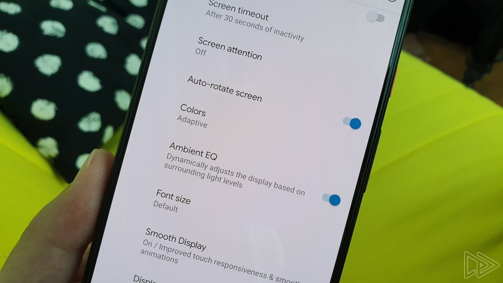 pixel 4 ambient eq settings