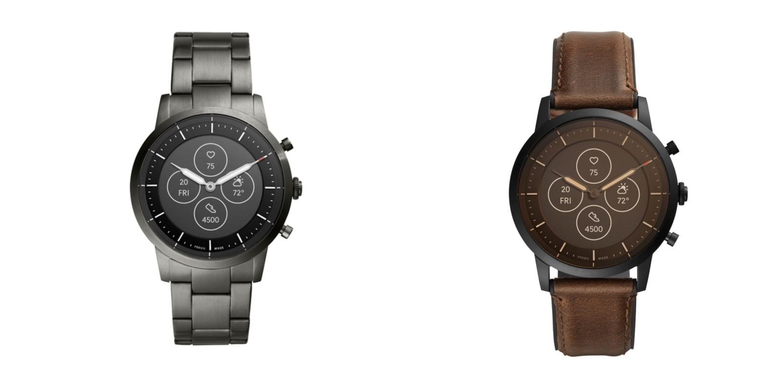 Fossil hybrid smartwatch with analog hands & E-Ink display emerges, possibly running Wear OS