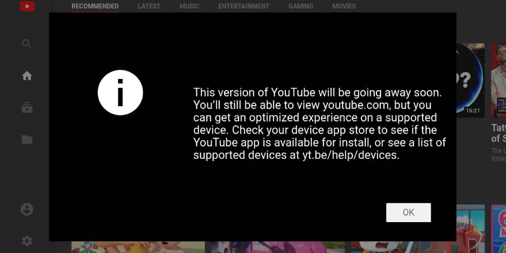YouTube is killing its 'leanback' TV interface for the web 'soon'