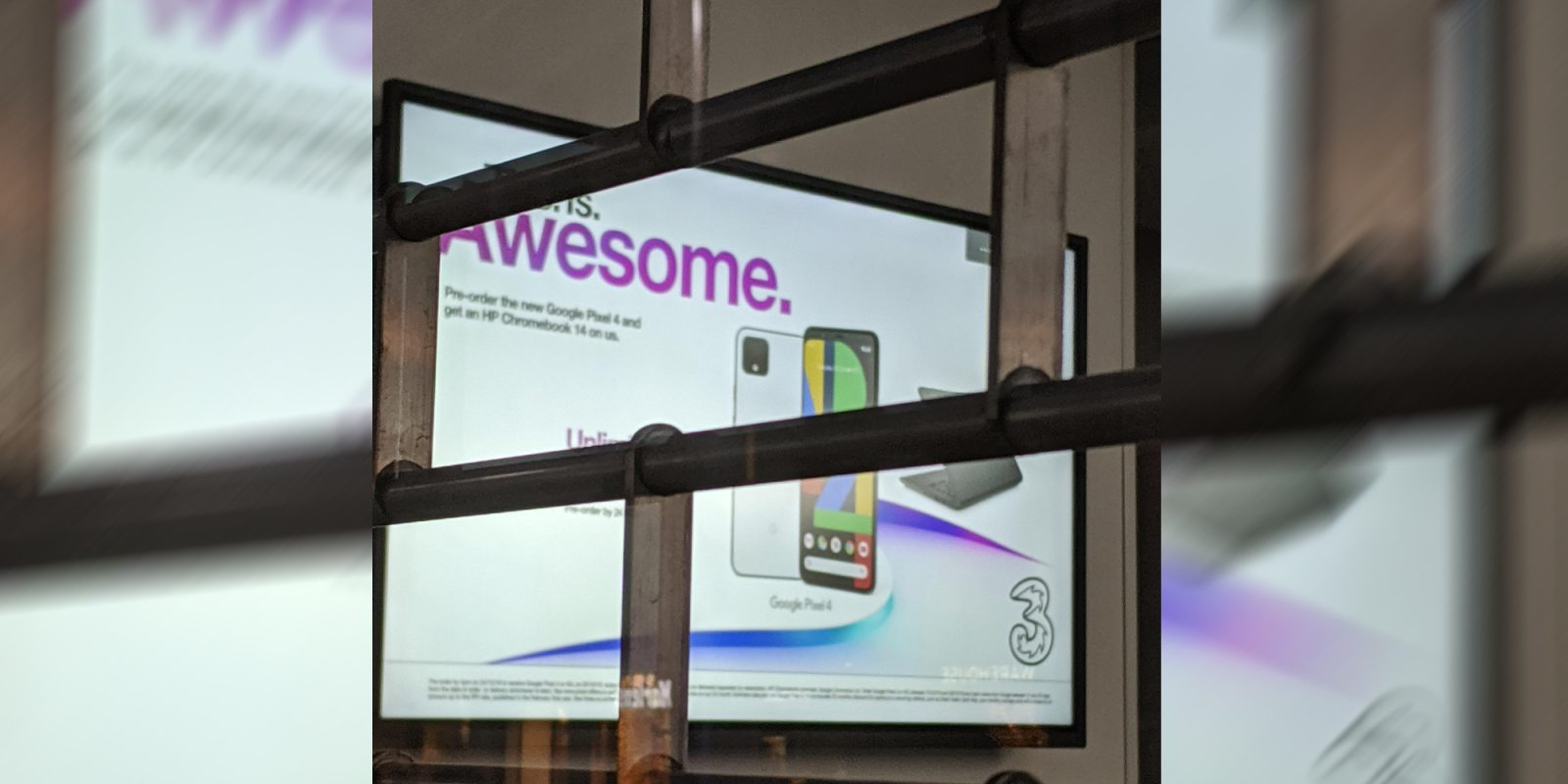 Pixel 4 billboard confirms free HP Chromebook 14 pre-order bonus for UK buyers