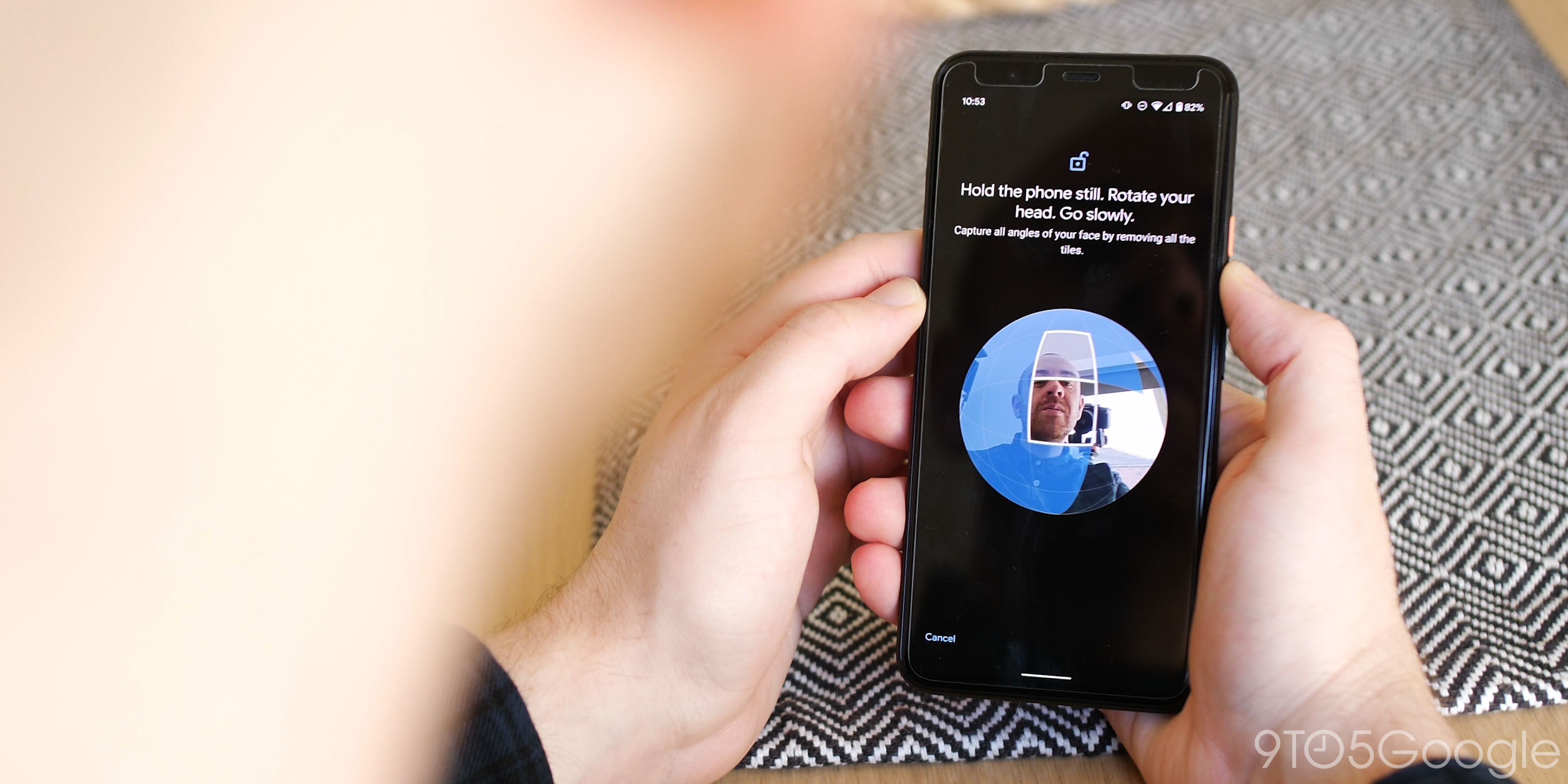 Pixel 4 XL face unlock registration