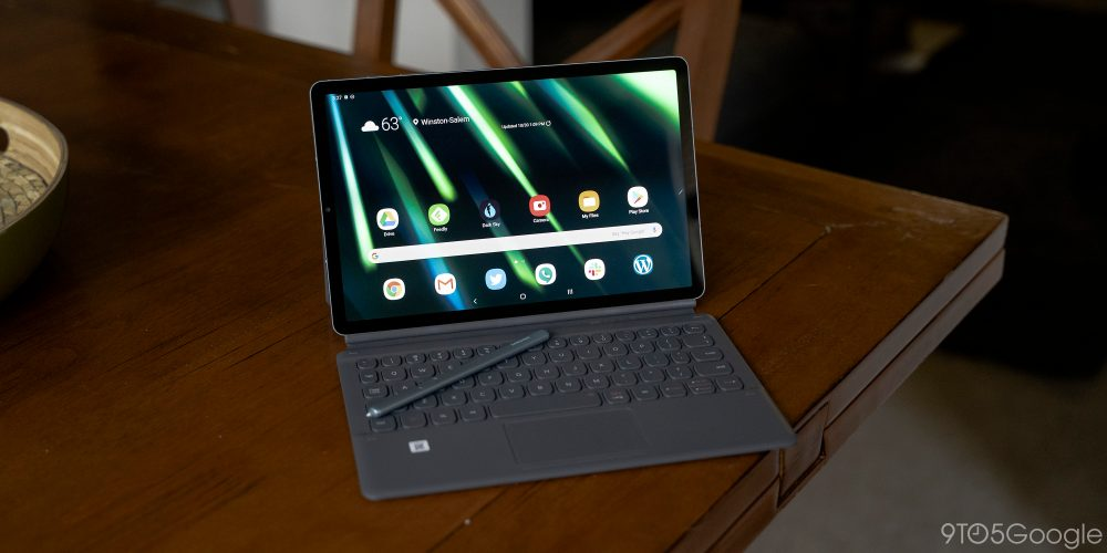 samsung galaxy tab s6 with keyboard case - android 10