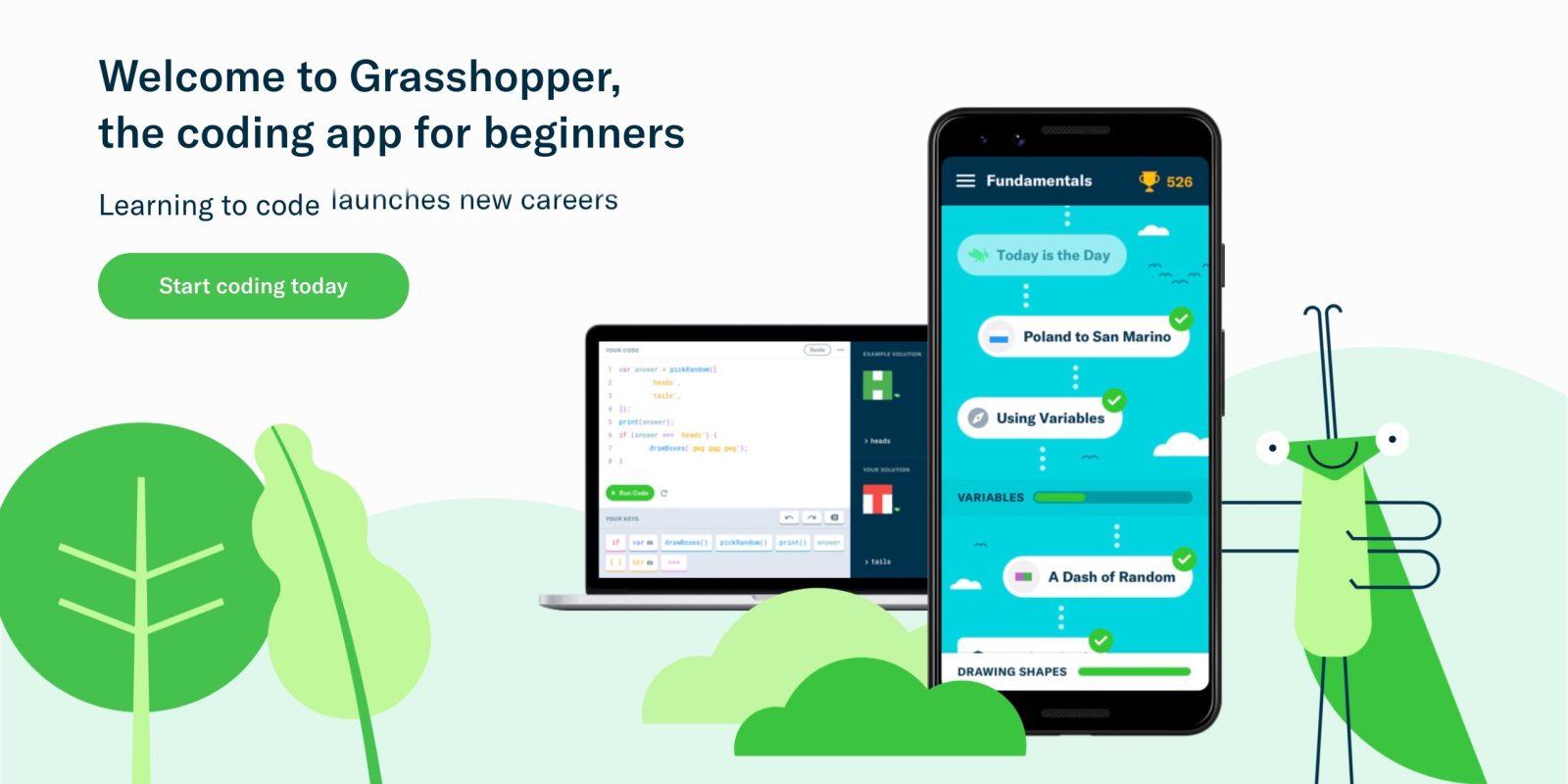 Google brings Grasshopper coding tool online, adds new web class
