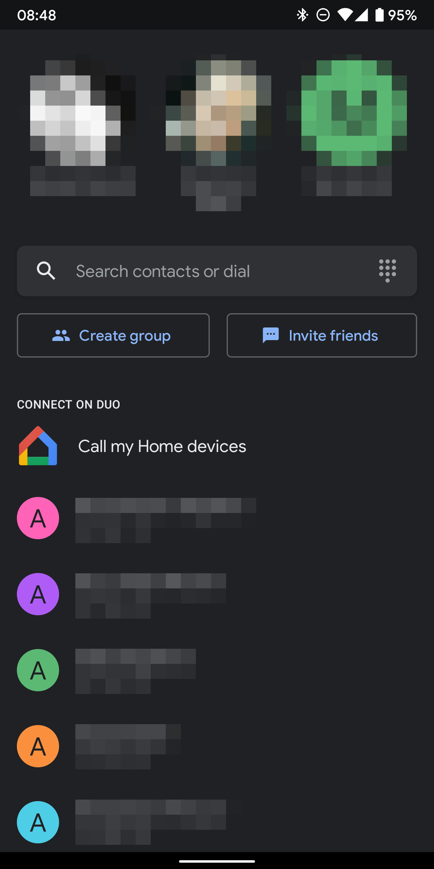 google duo dark mode android