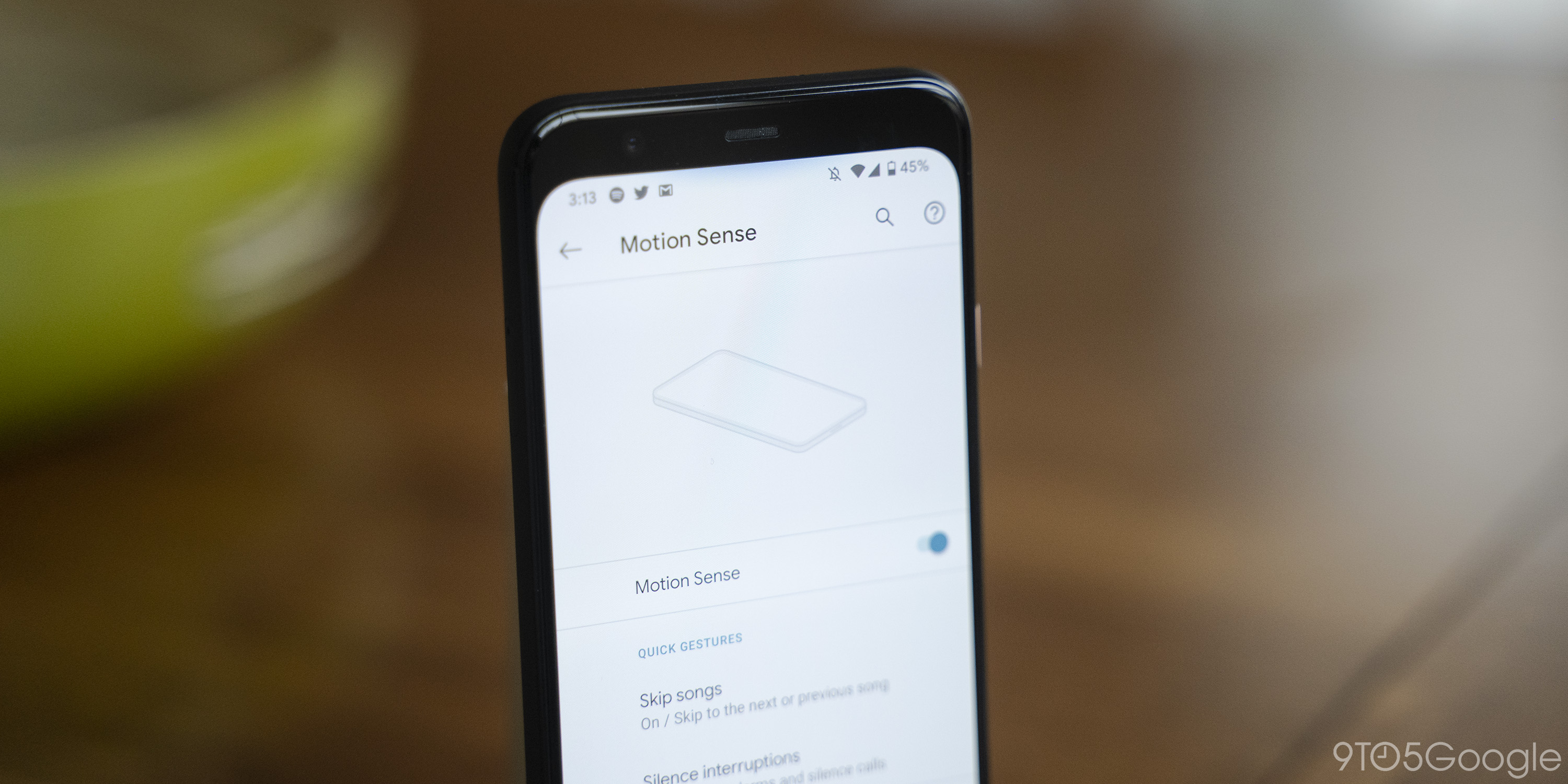 pixel 4 motion sense settings