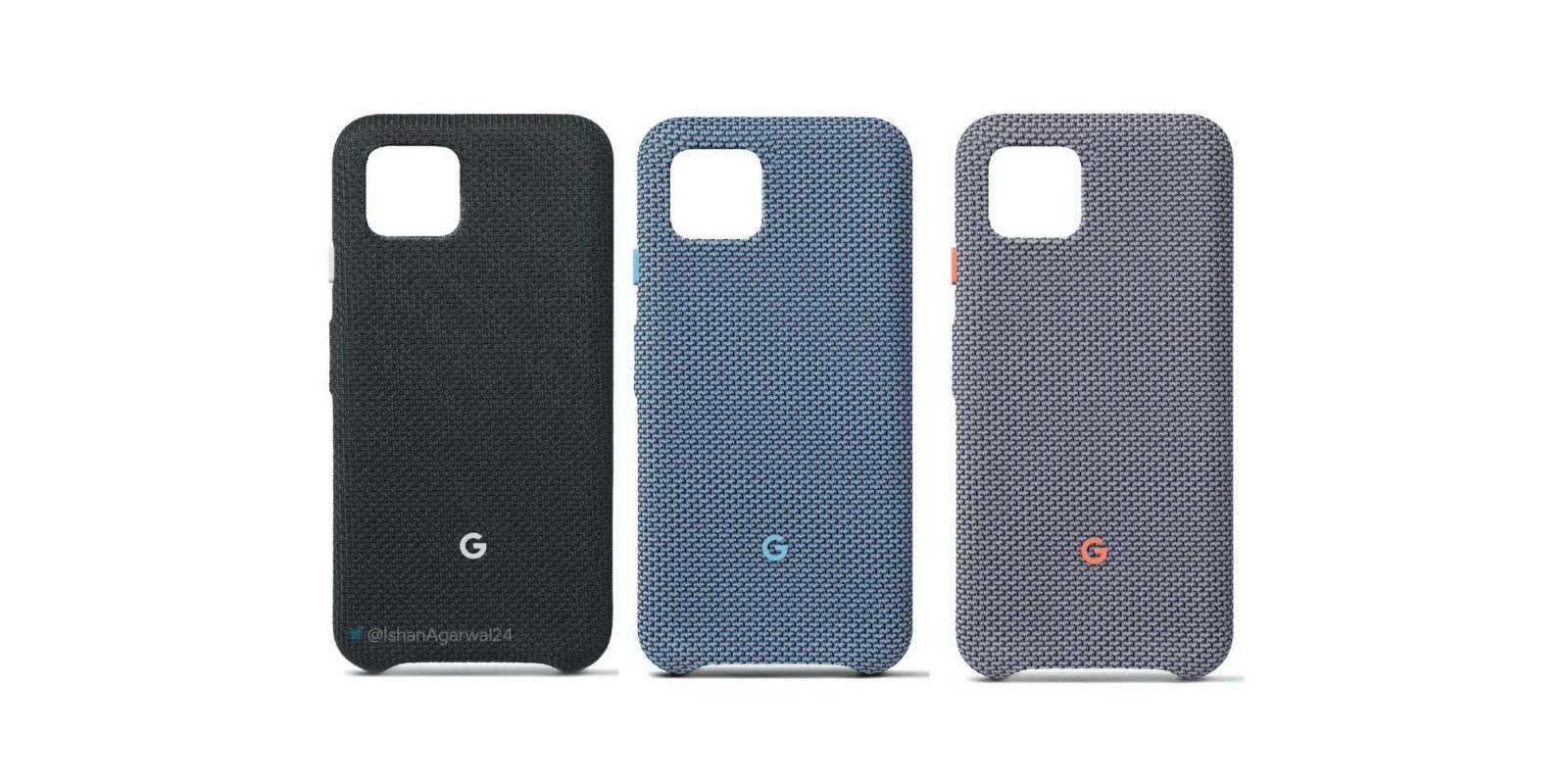 Pixel 4's official fabric cases leak w/ a new blue color, orange accents