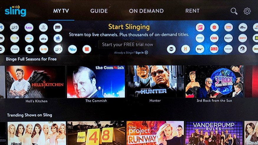 sling tv free content android