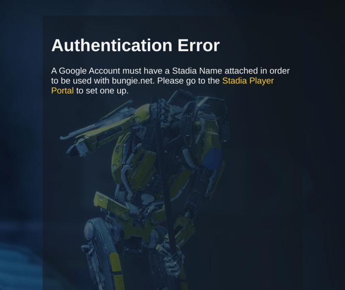 Stadia Player Portal
