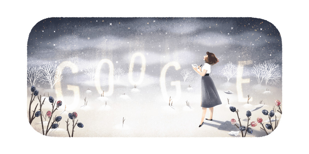 Google Doodle honors the memory of poet Sylvia Plath on her 87th birthday