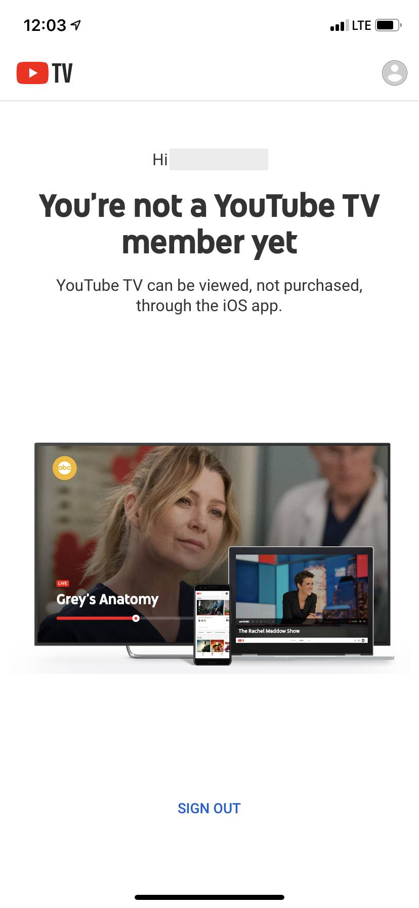 youtube tv ios itunes subscription