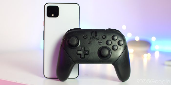 Pixel 4 Nintendo Switch controller for Stadia