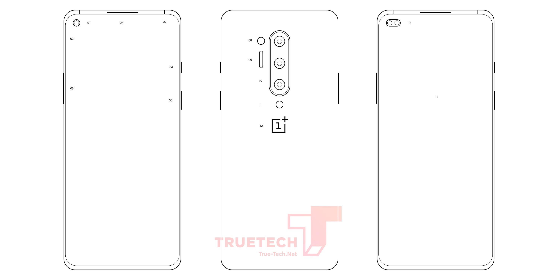 OnePlus 8 Pro leaked diagrams