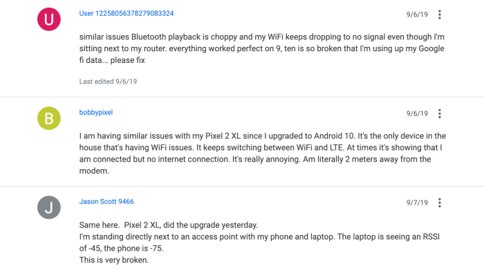 Pixel 2 wi-fi issues