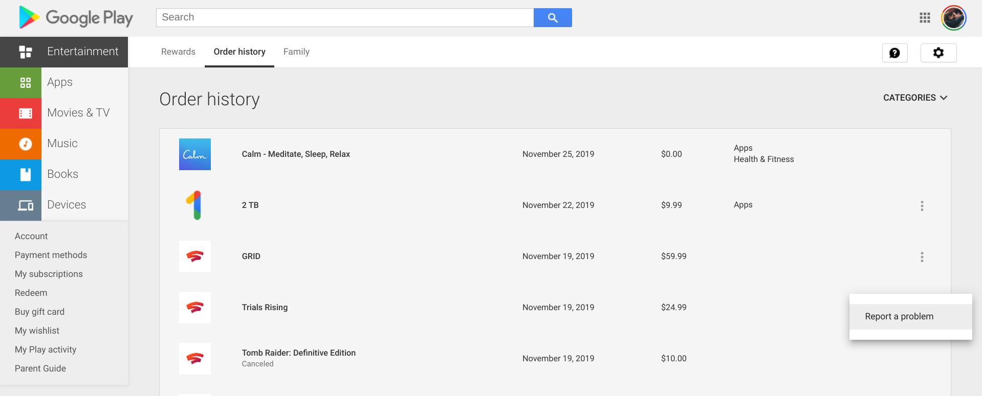 google stadia games refund process