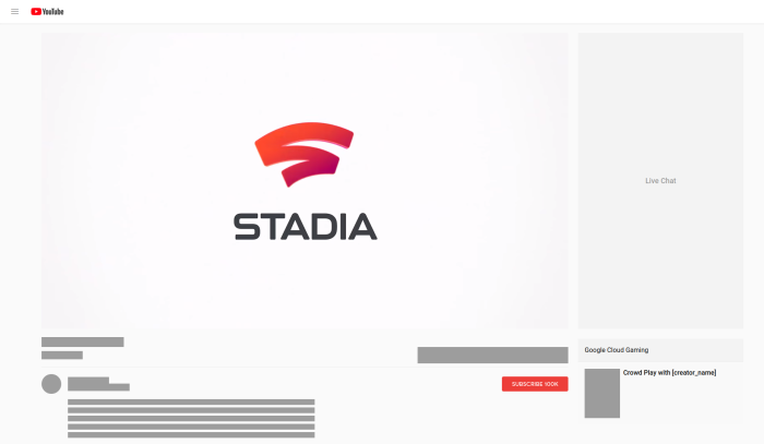 Screenshot of the Crowd Play UI for Stadia.