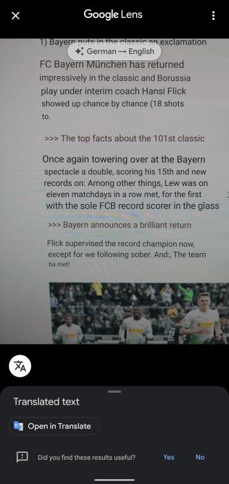 Google Camera 7.2 pixel - translate