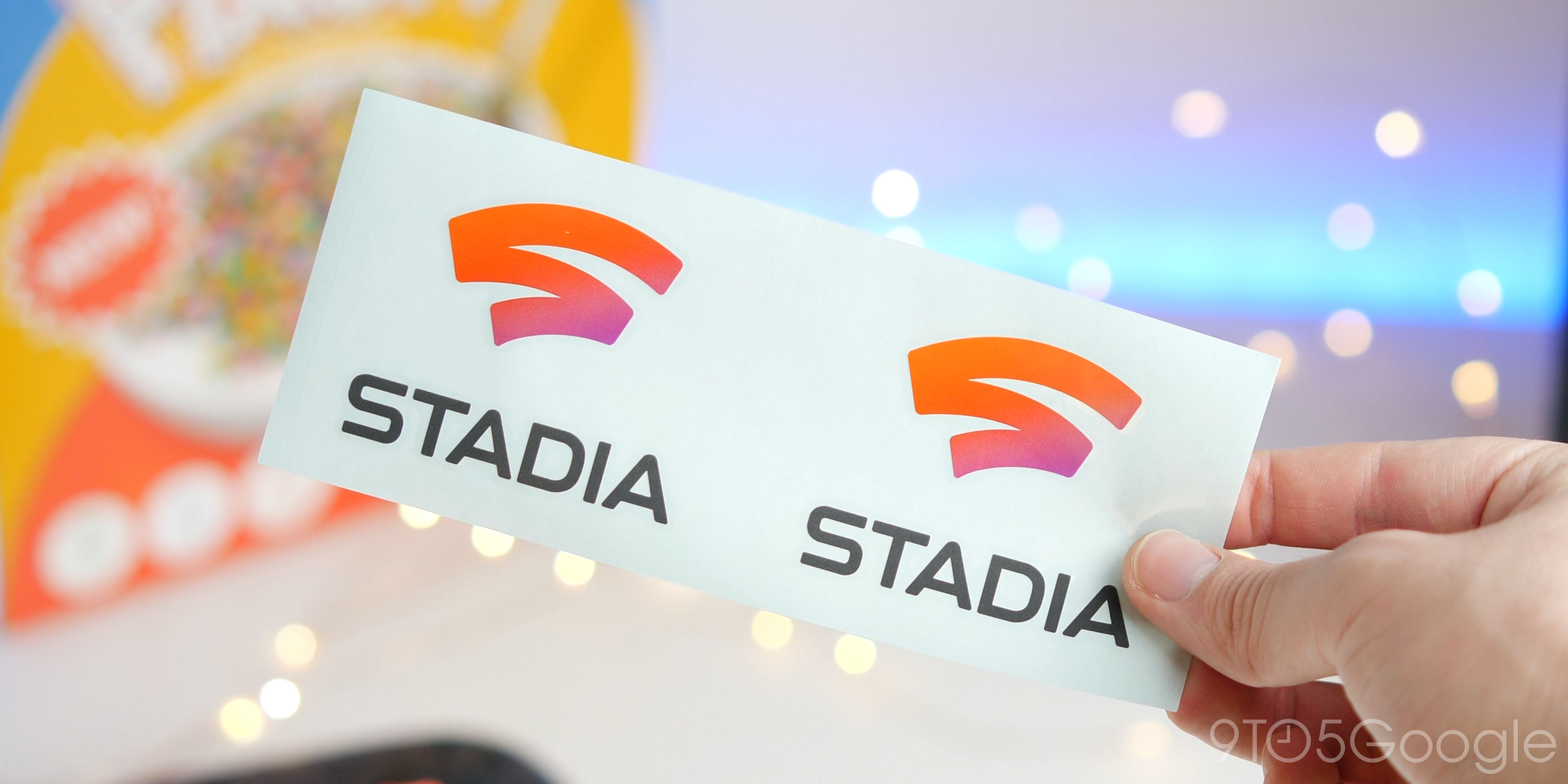 Stadia stickers unboxing