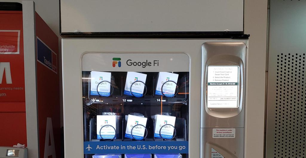 Google Fi courting travelers by selling SIM cards in airport vending machines - 9to5Google