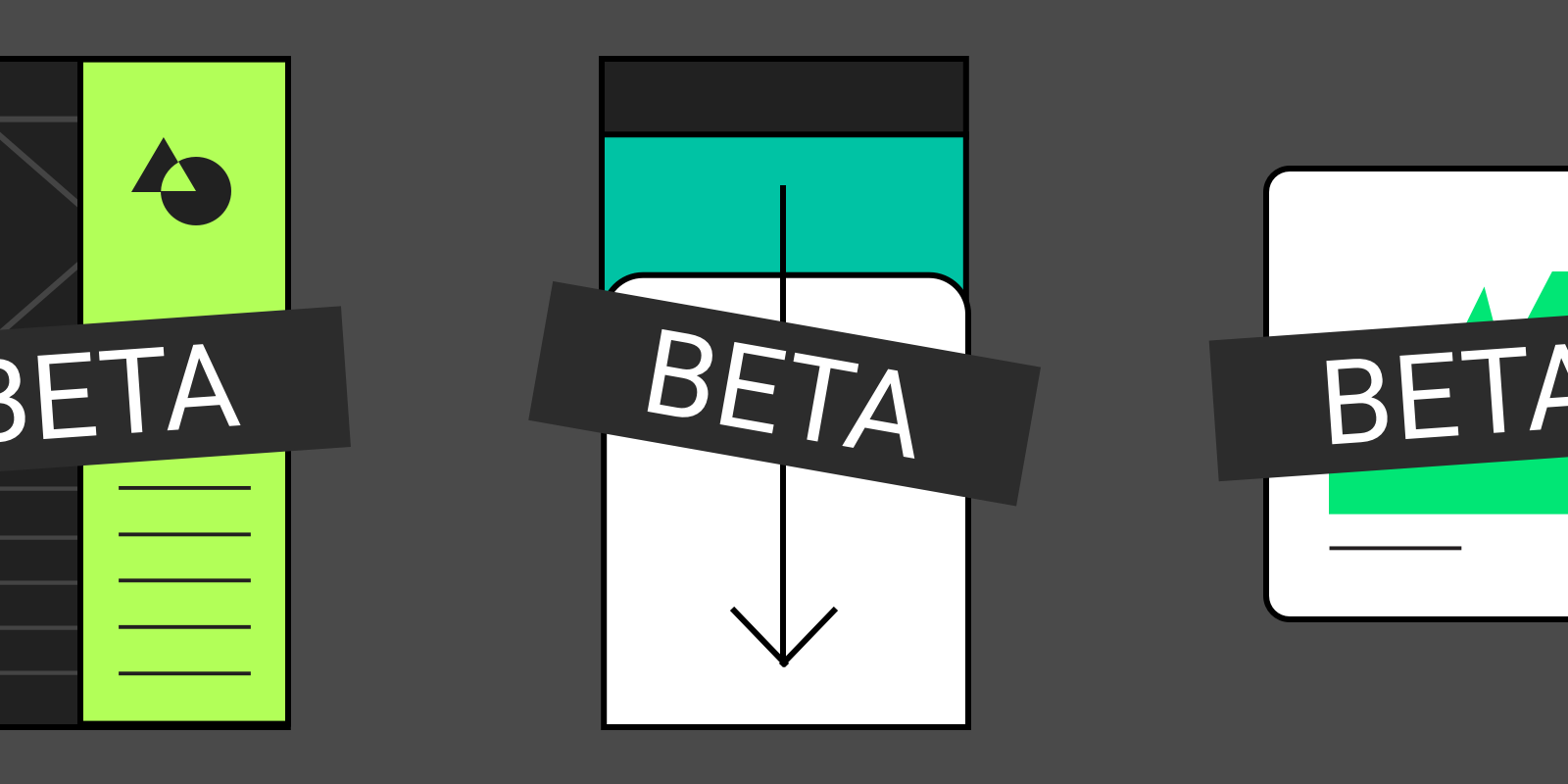 Google's Material Design guidelines now identify components that are still in 'Beta'