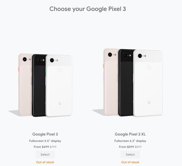 Pixel 3 stock