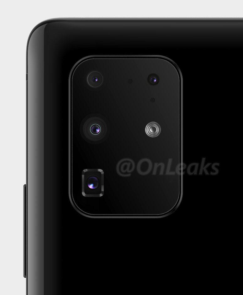 galaxy s11+ camera array design layout samsung