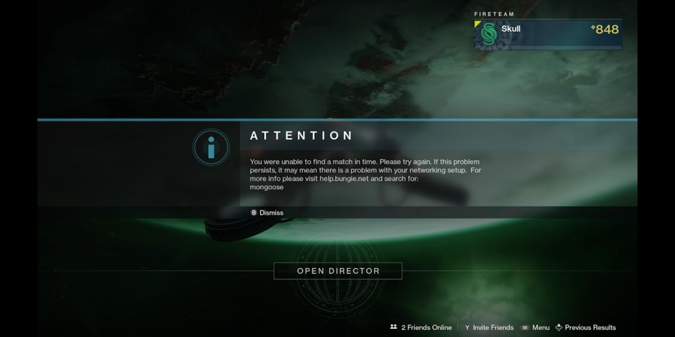 Destiny matchmaking problemen