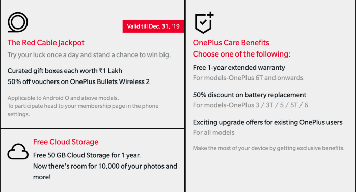 OnePlus Red Cable Club India