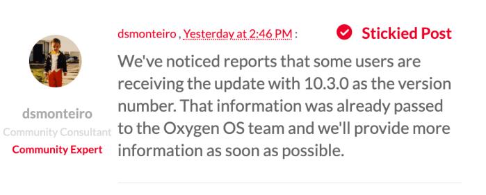 OxygenOS 10.0.7 OTA statement