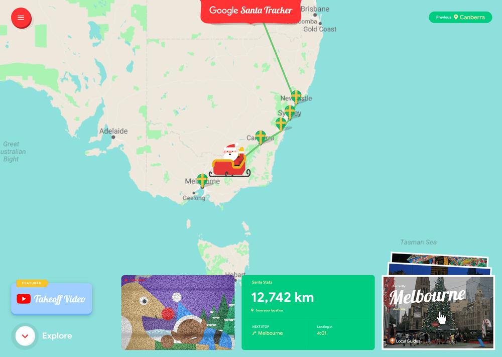 Google track Santa