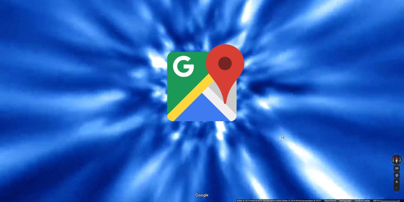 Google Maps now throws you into hyperspace when switching between planets