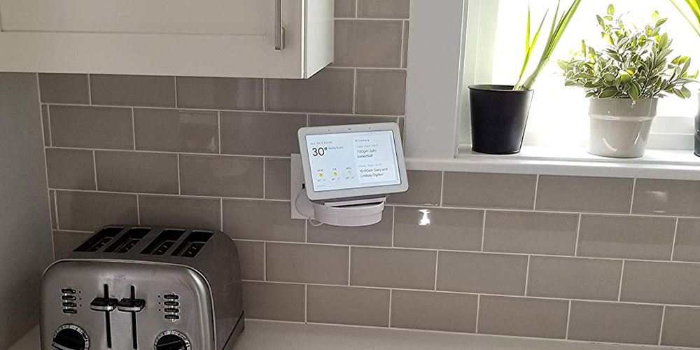 google nest hub outlet wall kitchen mount