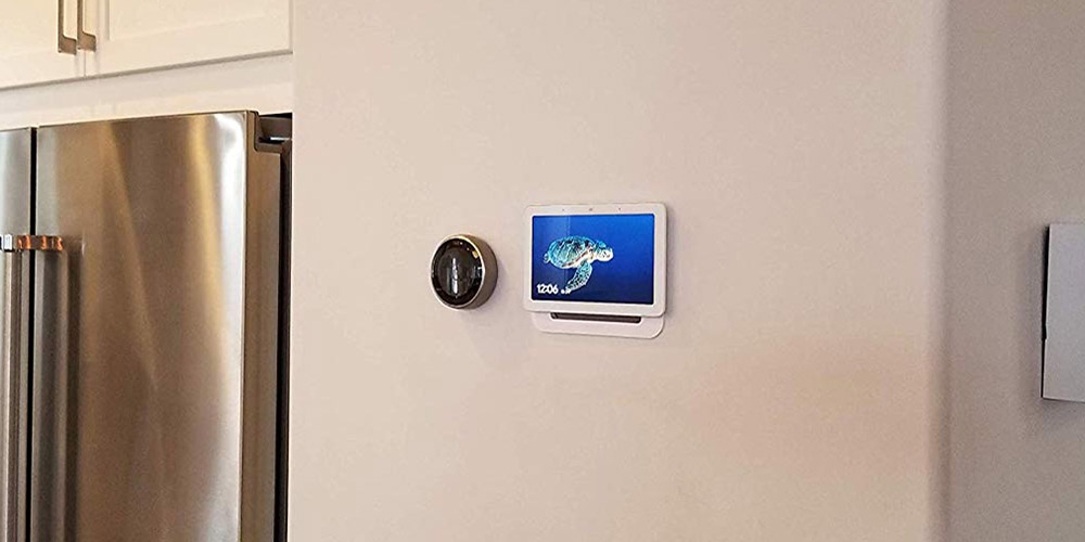 google nest hub in wall mount