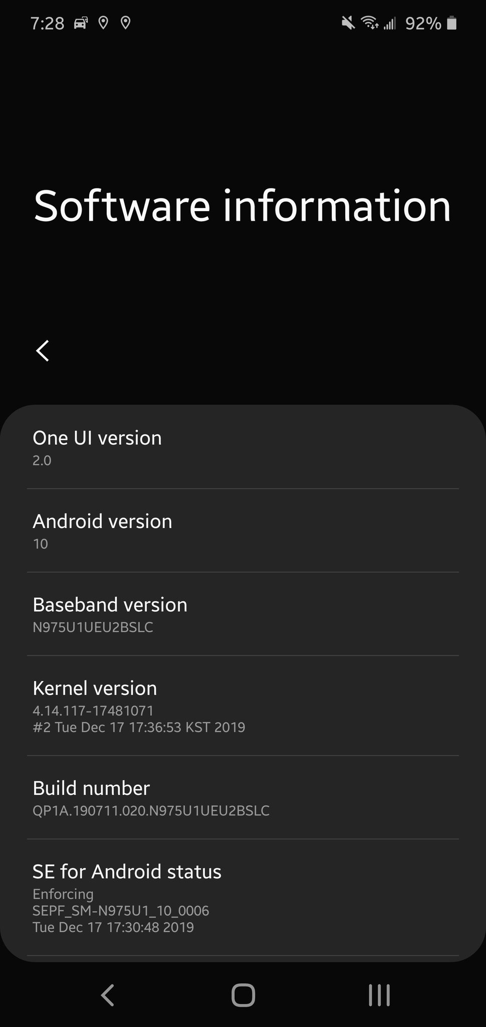 samsung galaxy note 10 android 10 unlocked update