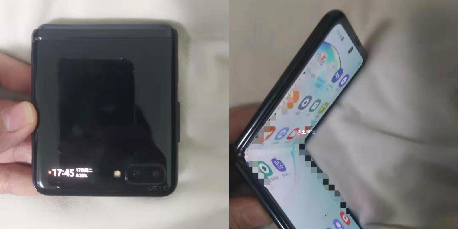 Samsung Galaxy Z Flip has a traditional fingerprint scanner, tiny outer display