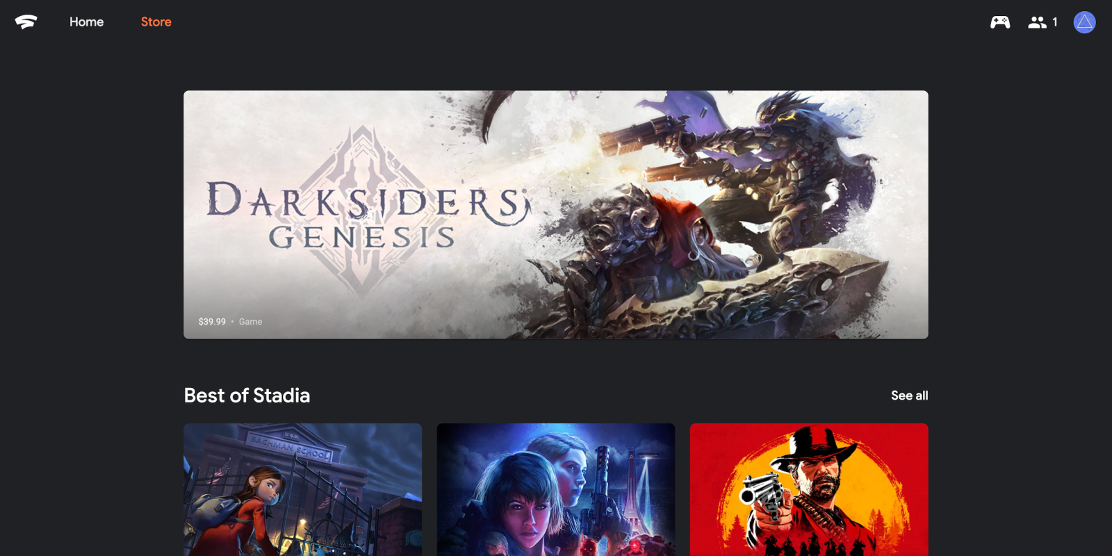 Stadia Store for browsing and buying games now available online