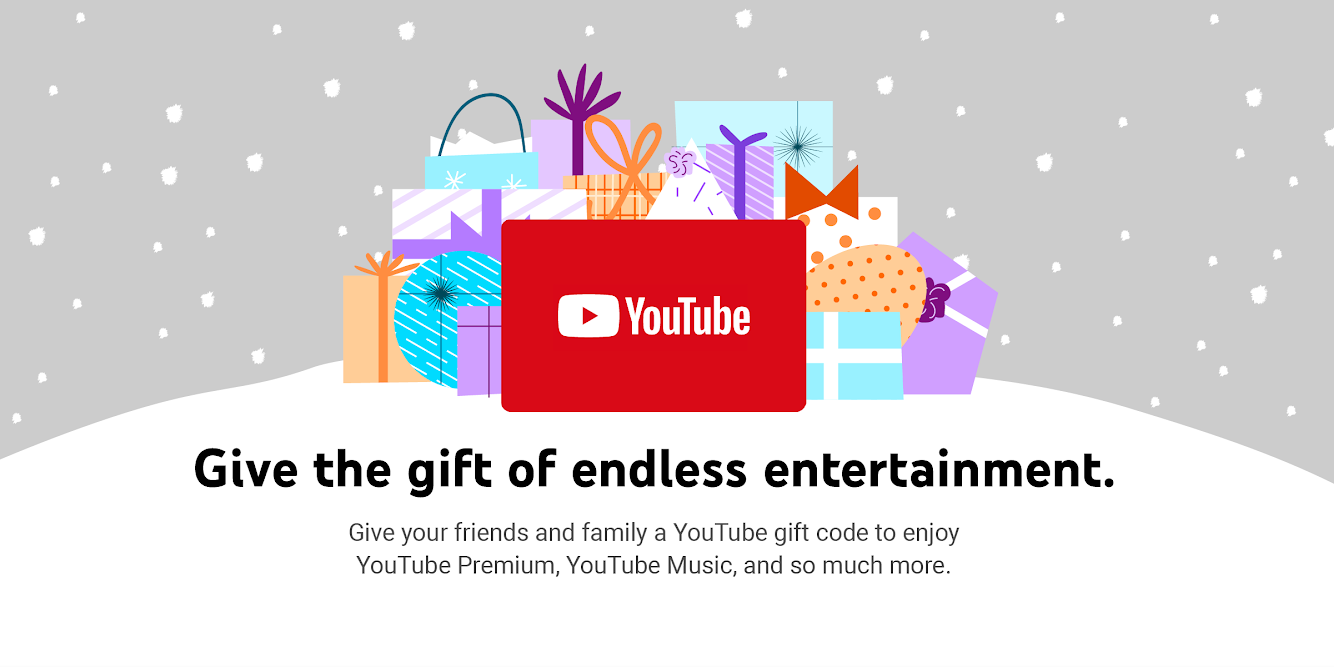 YouTube gift codes are now available in the US from Amazon